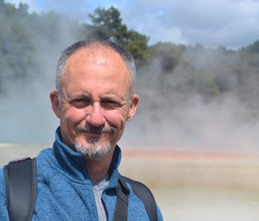 Me. as you might have guessed, by the sulfur pools at Rotorua, NZ.