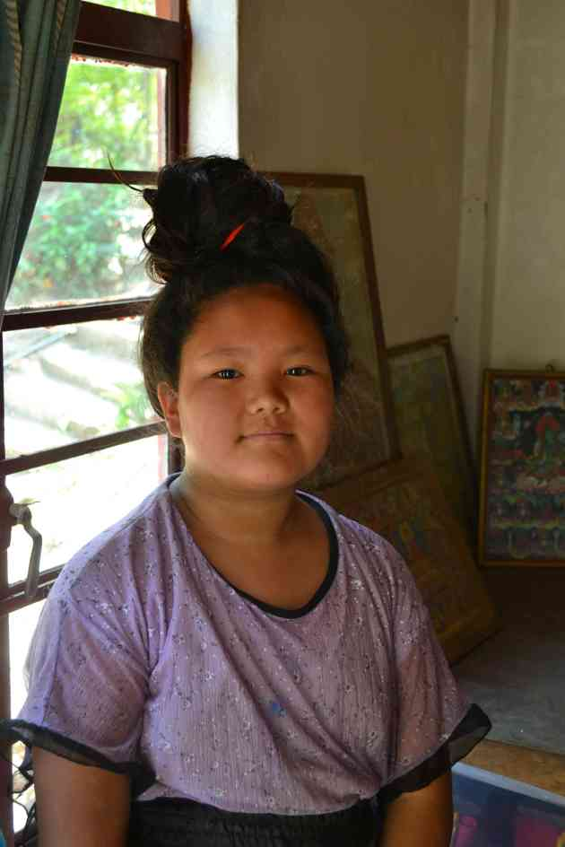 The Lepcha Lama's grandaughter - a pupil at the High School wh wants to be a doctor.