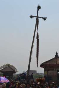 """The erect """"pole"""" - the crosspiece is supposed to represent an evil snake that has been speared before it could bite the hero, before he could rescue the princess. Um."""