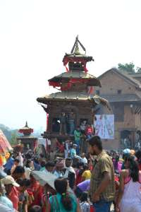 The chariot of Bhairab at rest in the main square.