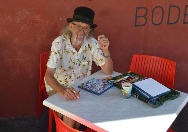 Itinerant painter and philosopher Horatio T Birdbath