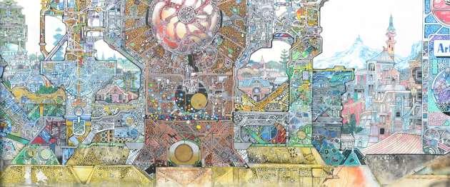 Street-side mural by Horatio T Birdbath
