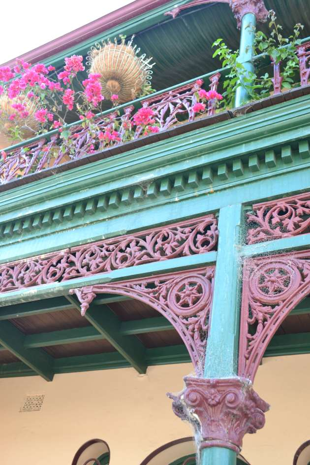 Ironwork verandas in Fremantle.