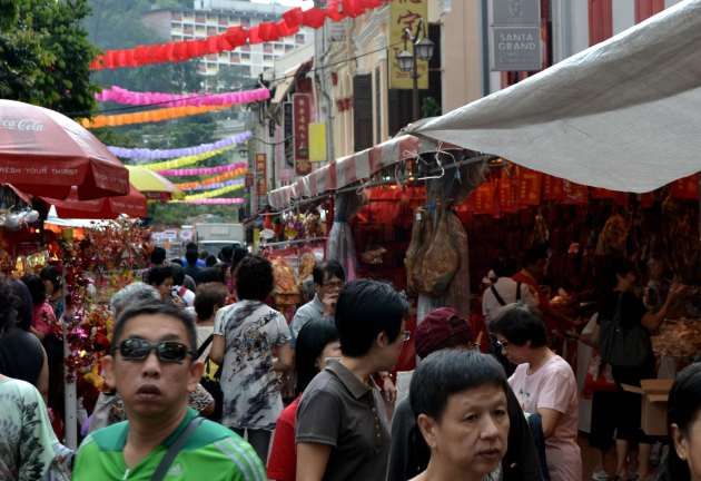 Preparing for New Year in China Town