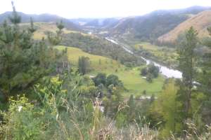 The start of the Whanganui river road